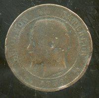 FRANCE 10 centimes 1856 B NAPOLEON III ( etat )