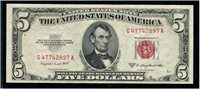 $5 1953B Smith-Dillon. F1534. Choice Uncirculated, centered too low for Gem.