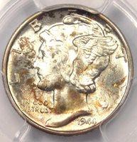 """1944-D Mercury Dime 10C - PCGS MS67+ FB - Rare PQ """"Plus Grade"""" - $325 Value!"""