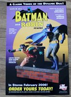 Batman Robin Statue 2006 Dynamic Duo Silver Age Paquet DC Direct PROMO Poster VF