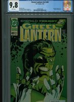 GREEN LANTERN #49 V3 MT 9.8 CGC WHITE PAGES SINESTRO APP. MARZ STORY BANKS COVER