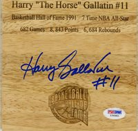 """Harry """"The Horse"""" Gallatin SIGNED Floorboard New York Knicks PSA/DNA AUTOGRAPHED"""