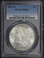 1921-D $1 MS63 PCGS