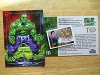2018 TED DASTICK JR.CARD HULK JUSKO HOMAGE SPOOF PHILLY SHOW EXCLUSIVE SIGNED