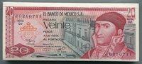 MEXICO 20 PESOS 1977 P 64 XF MONEY BANKNOTE BUNDLE x 100 NOTES - PYRAMID