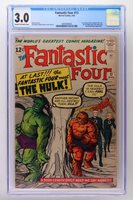 Fantastic Four #12 - Marvel 1963 CGC 3.0 1st meeting of The Fantastic Four and T