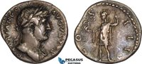 AB996, Roman, Hadrian (AD 117-138) AR Denarius (3.29g) Rome, AD 125-128, Roma