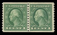#443 MNH Paste-up Pair w/ plate # 6854 PSE Graded 80J