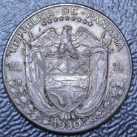 1930 PANAMA - 1 CUARTO - .900 SILVER - Vasco Nunez de Balboa - Nice