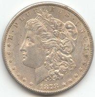 1878-S Morgan Silver Dollar, Lustrous and Original AU-Unc