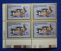 U.S. (RW51) 1984 Federal Duck Stamp Plate Block of 4 (MNH/OG) lower left