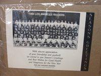 LA Raiders Seasons Greetings 1993 team 7x9.5 photo stills print #3278