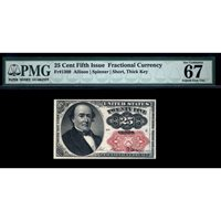 FR. 1309 Fifth Issue 25C Fractional Currency PMG 67 EPQ