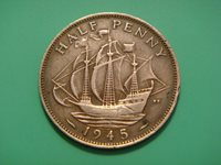 Great Britain 1/2 Penny, 1945