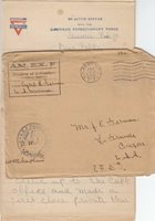 1919, AEF: France, APO 713 to Oregon, Censored, See Remark (M3049)