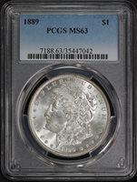 1889 $1 MS63 PCGS