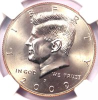 2009-P Kennedy Half Dollar (50C Coin) - NGC MS68 - Rare in MS68 - $1,850 Value!