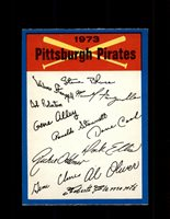1973 PITTSBURGH PIRATES OPC TEAM CHECKLIST O-PEE-CHEE *3755