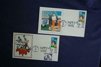 Looney Tunes Daffy Duck 33c Stamp 2 FDCs Barry & UNK Cachets Sc#3306 11949