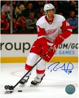 Ryan Sproul Autographed Detroit Red Wings 8x10 Photo #2 - Road Action