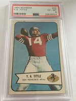 Y.A. Tittle 1954 Bowman #42 NY Giants / 49'ers HOF ~PSA 6~