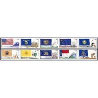 #4303-12 Flags of our Nation, Set of Ten Singles (4th of 6)