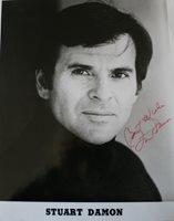 Stuart Damon Autographed black and white