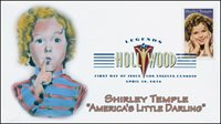 2016, Shirley Temple, Little Darling, Legends of Hollywood, FDC, DCP, 16-101
