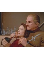 RENE AUBERJONOIS and NANA VISITOR as Constable Odo and Major Kira - Star Trek: DS9