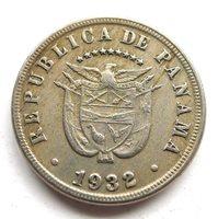 PANAMA 5 CENTESIMOS 1932, CU-NI, SCARCE LOW MINTAGE 332K, GVF+ LIGHT TONE, KM#9