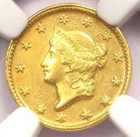 1851-D Liberty Gold Dollar G$1 - NGC AU Details - Rare Dahlonega Coin!