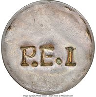 """Canada: Prince Edward Island. """"Peter McCausland"""" copper Penny Token ND Certified as GENUINE by NGC,..."""