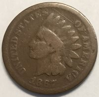 1867 1C Indian Cent- Uncertified G #