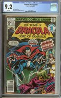 TOMB OF DRACULA #59 CGC 9.2 WHITE PAGES