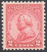 SC#689 - 2c Von Steuben Issue Single MNH