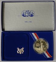 1986 United States Liberty Coin Proof .900 Silver 26.73g In box W/ COA