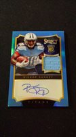 2014 Panini Select Bishop Sankey Rc Auto Game Used Jersey Patch #20/20 Titans