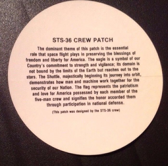 NASA SHUTTLE ATLANTIS STS-84  CREW PATCH SPACE  DECAL STICKER 4/""