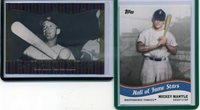 Lot of (2) MICKEY MANTLE 2010 TOPPS PRO DEBUT HALL OF FAME STARS #HOF7 & 2011