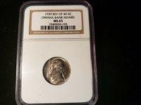 1939 REV OF 40 JEFFERSON NICKLE NGC MS 65 1540950-195 OMAHA BANK HORDE