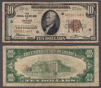 1929 $10 FR-1860-G Chicago