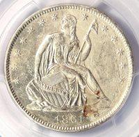 1861-O CSA Obverse Seated Liberty Half Dollar 50C FS-401 WB-102 - PCGS AU Detail