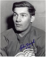 Johnny Bucyk Autographed Detroit Red Wings 8x10 Photo #2
