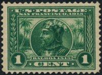 Scott 397, VF NH, 1913 1c Panama-Pacific, perf 12