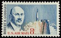 1964 8c Robert H. Goddard, American Rocket Pioneer Scott C69 Mint F/VF NH