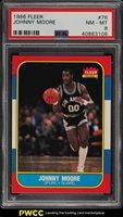 1986 Fleer Basketball Johnny Moore #76 PSA 8 NM-MT (PWCC)