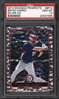 2012 Bowman Prospects Silver Ice Bryce Harper ROOKIE RC PSA 10 GEM MINT