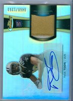 2012 Topps Finest Nick Toon Auto 2-Color Jersey Rc Serial # 468/1353