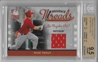 2009 Mike Trout Elite Throwback Threads RC- BGS 9.5 w/quad 9.5 subs... #138/250