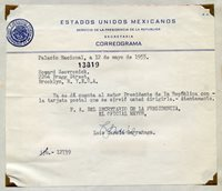 MEXICO SECERTARY TO THE PRESIDENT 1955 LETTER WITH COVER
